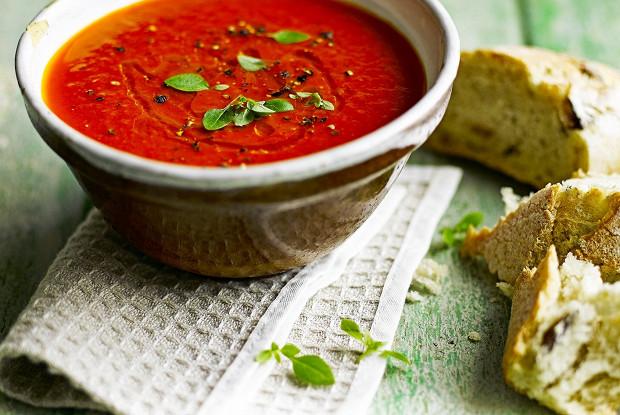 Крем-суп-из запеченных помидоров и перца
