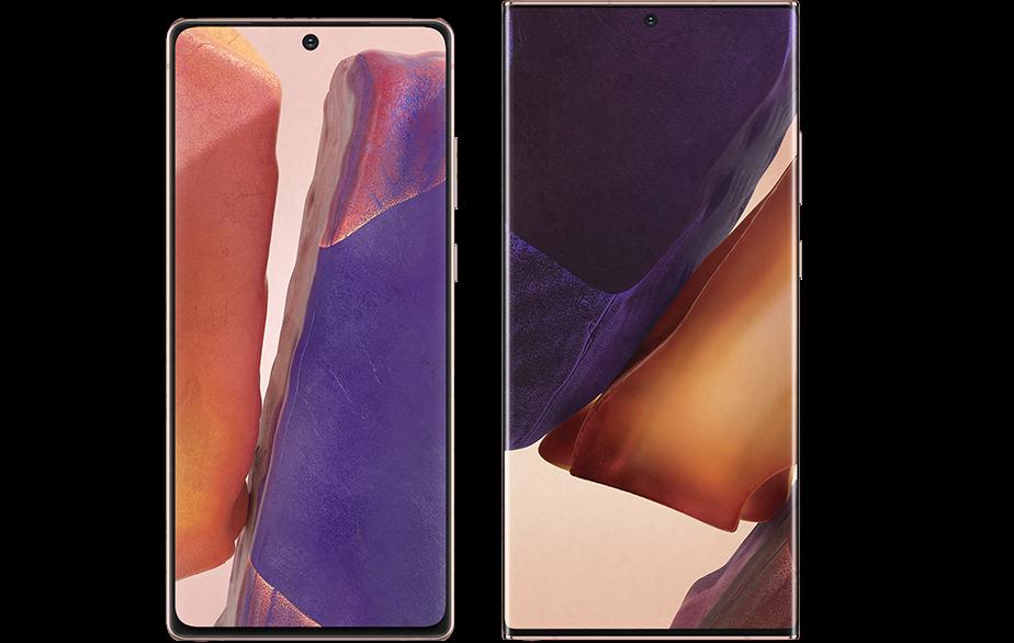 Samsung Galaxy Note 20-новинки экраны