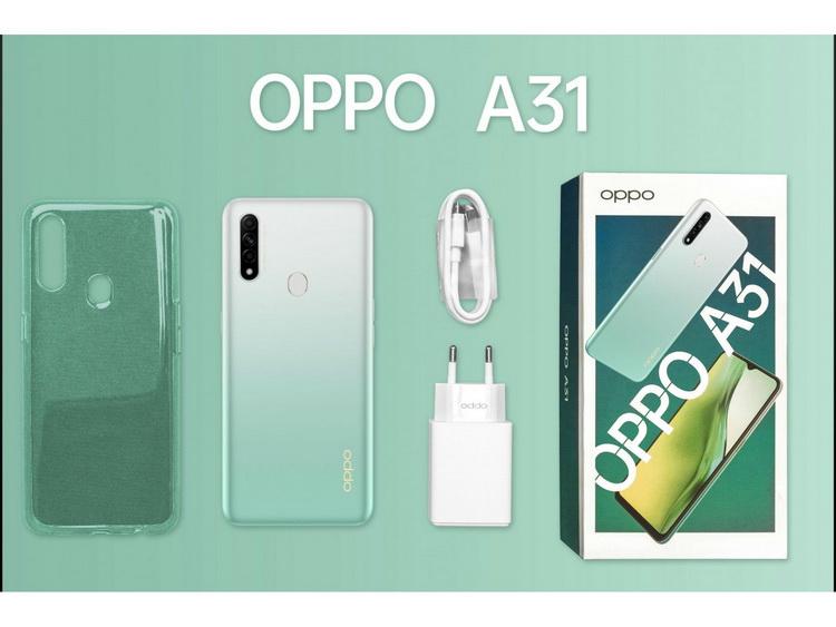 OPPO A31 Lake Green-комплект поставки
