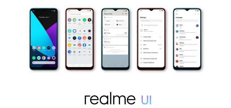 Realme C3-интерфейс