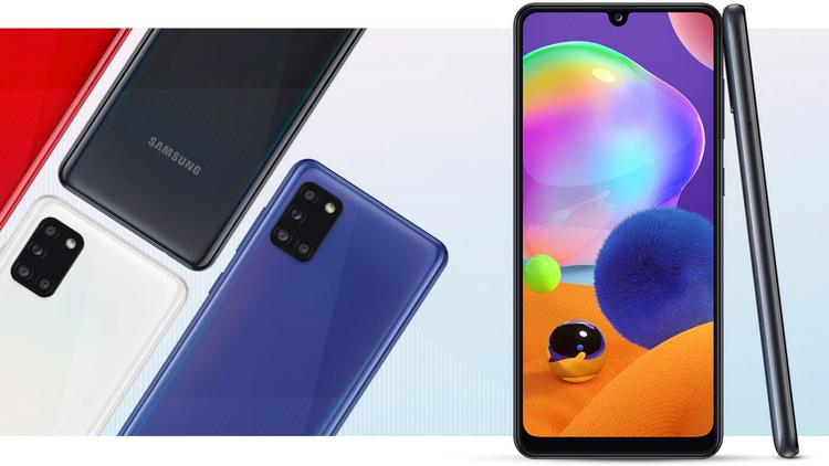 Samsung Galaxy A31-ракурсы и расцветки