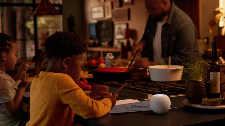 Apple HomePod mini-в интерьере