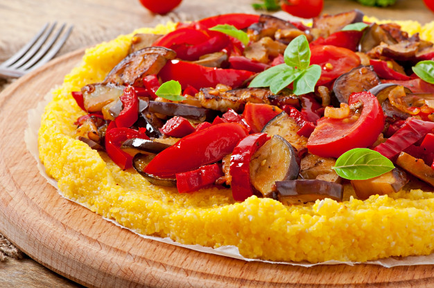 Кукурузная пицца-полента