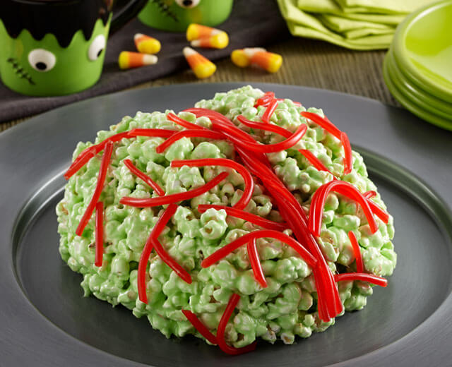 Зеленые мозги-десерт