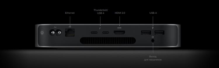 Mac mini-возможности подключения