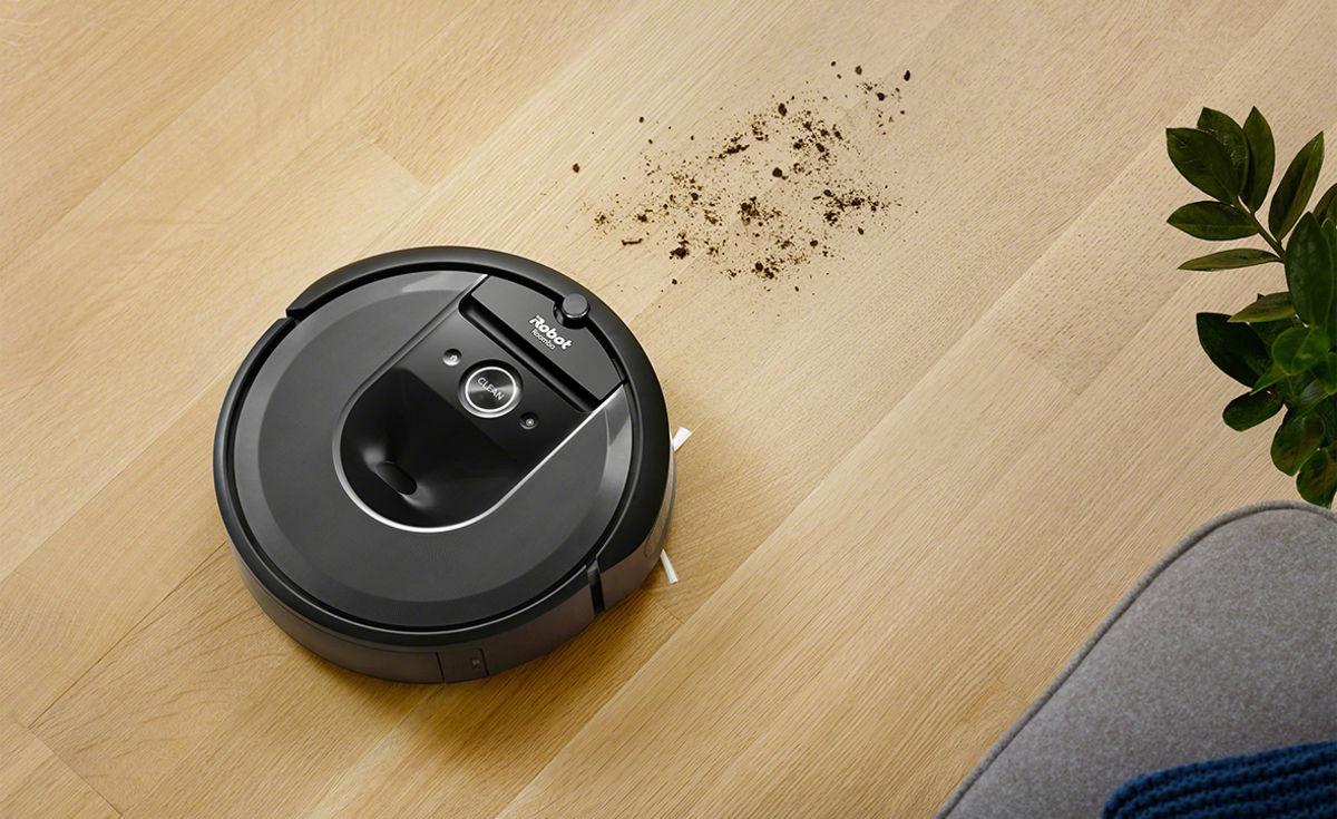 Робот-пылесос за уборкой