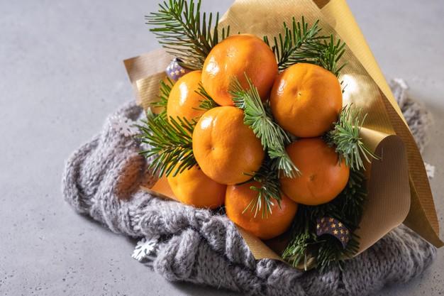 Букет из мандаринов-мини