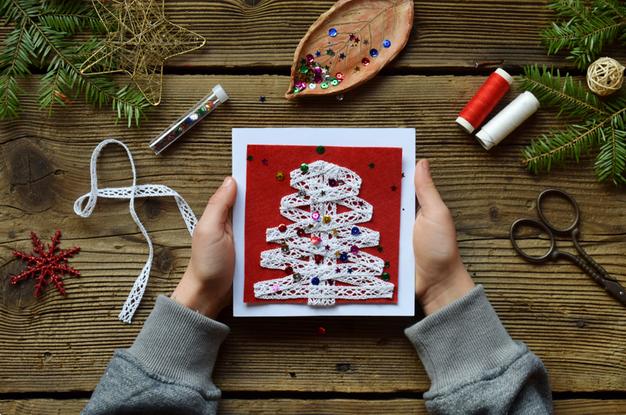 Самодельная открытка-приятные мелочи