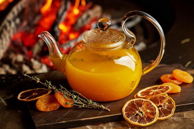 Чай с облепихой и грушей-рецепт