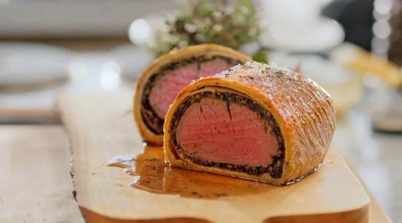 Beef Wellington-стадия приготовления мяса