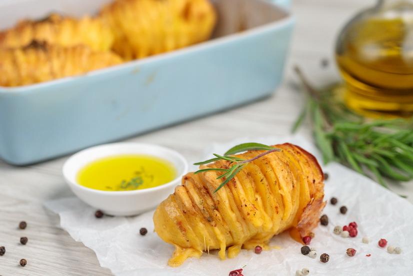 Картошка-гармошка с сыром