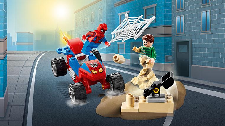 Конструктор LEGO Marvel Spider-Man Человек-Паук и Песчаный человек