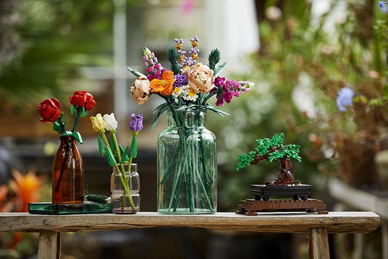 Разные цветы Лего
