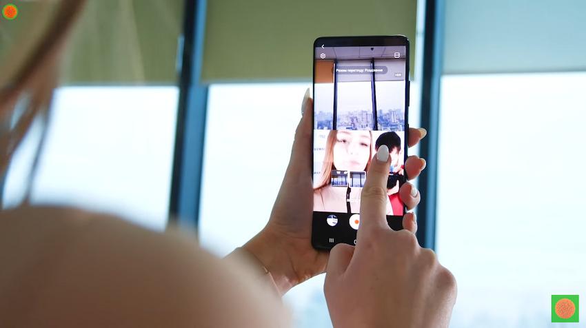 Samsung Galaxy S21 ультра-режиссерский режим экран 50 на 50