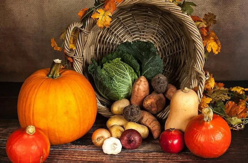 Сезонные овощи.