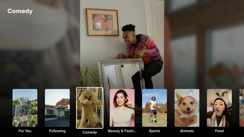 Android TV-появился TikTok.