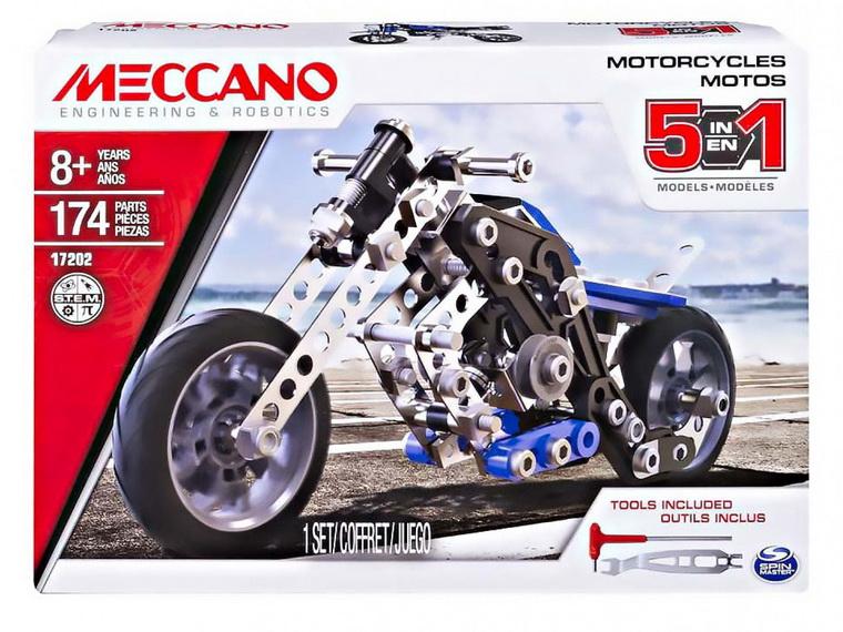 Металлический конструктор MECCANO-Мотоцикл упаковка
