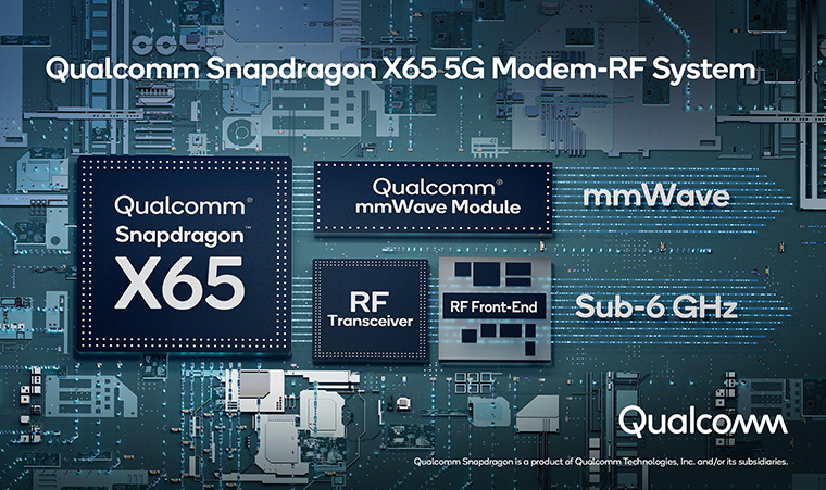 Компанія Qualcomm показала нове покоління модемів 5G. Новинка Qualcomm Snapdragon X65 може підтримувати швидкість інтернету на рівні 10 Гбіт на секунду, забезпечує стабільніше з'єднання та низький пінг. -Блог Comfy