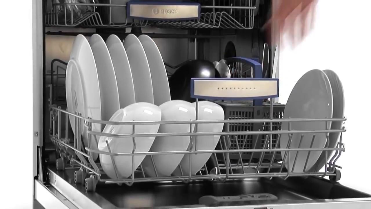 посудомойка бош с посудой