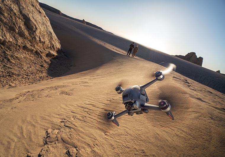 Дрон в пустыне