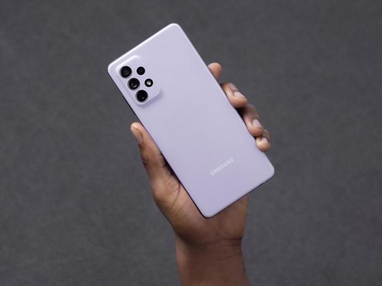Samsung Galaxy A72-лиловая расцветка