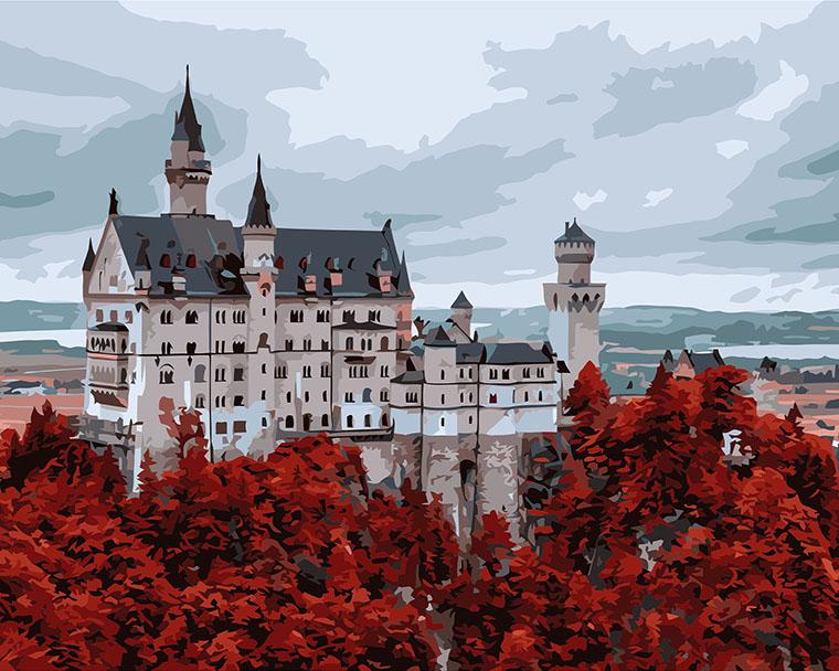 Картина по номерам «Волшебный замок»