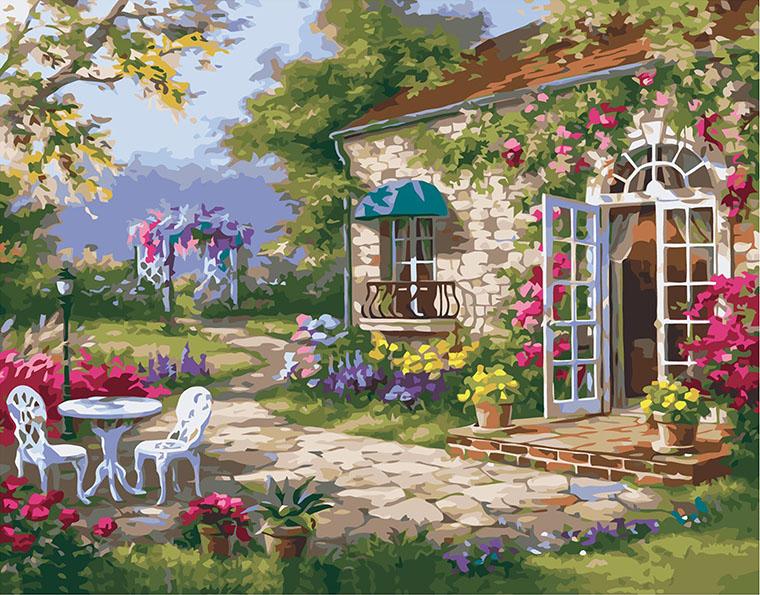 Картина по номерам «Загородный дом»