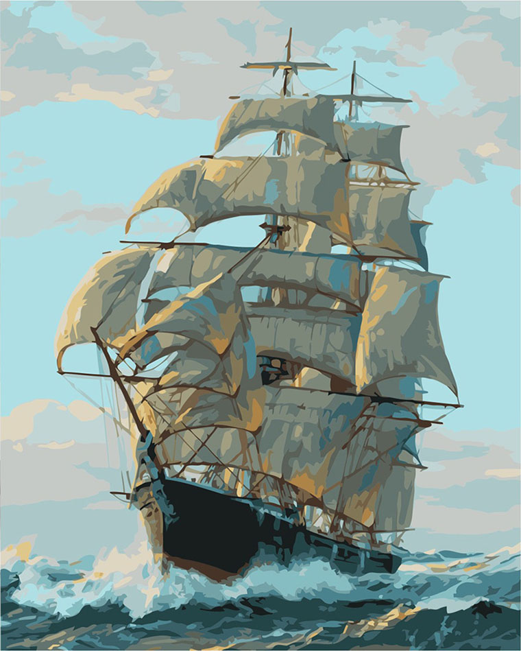 Картина за номерами «Корабель»