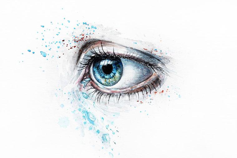 Намальоване око
