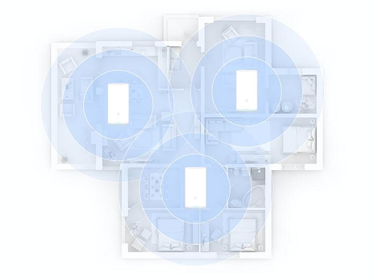 Huawei Mesh WS5800 схема покрытия