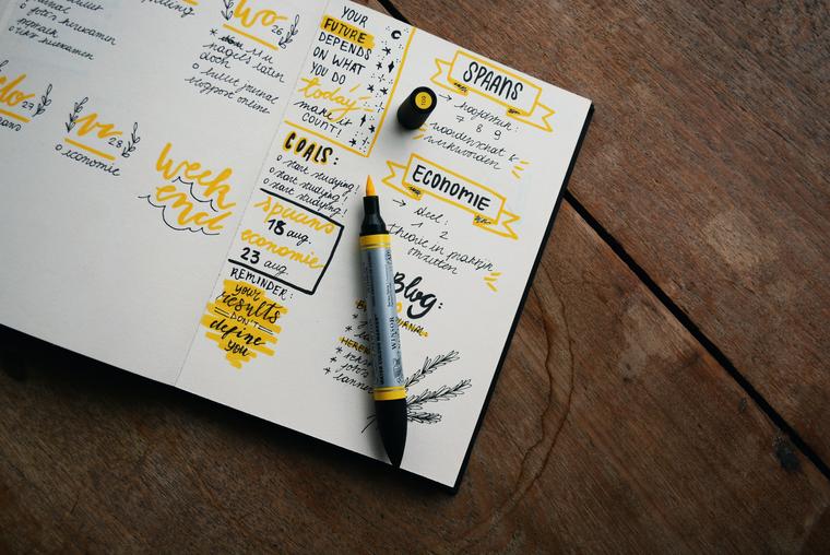 У Bullet Journal гибкая структура, которую вы можете изменять по своему усмотрению