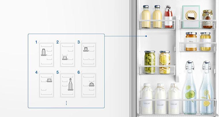 Холодильник Samsung RB37J5000SA UA всередині