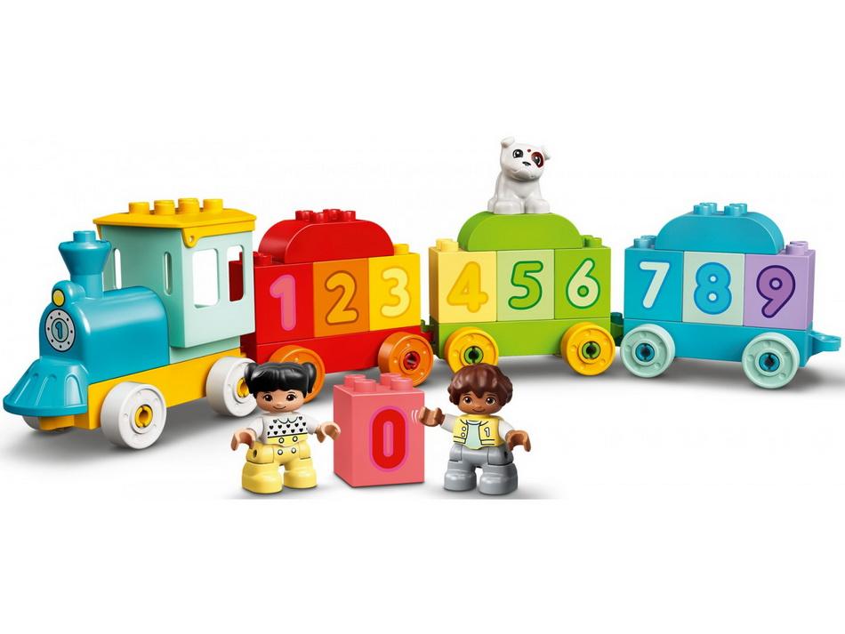 Конструктор LEGO DUPLO My First Поезд с цифрами-учимся считать