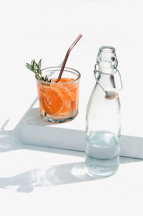 розмарин и апельсин-что добавить в стакан воды