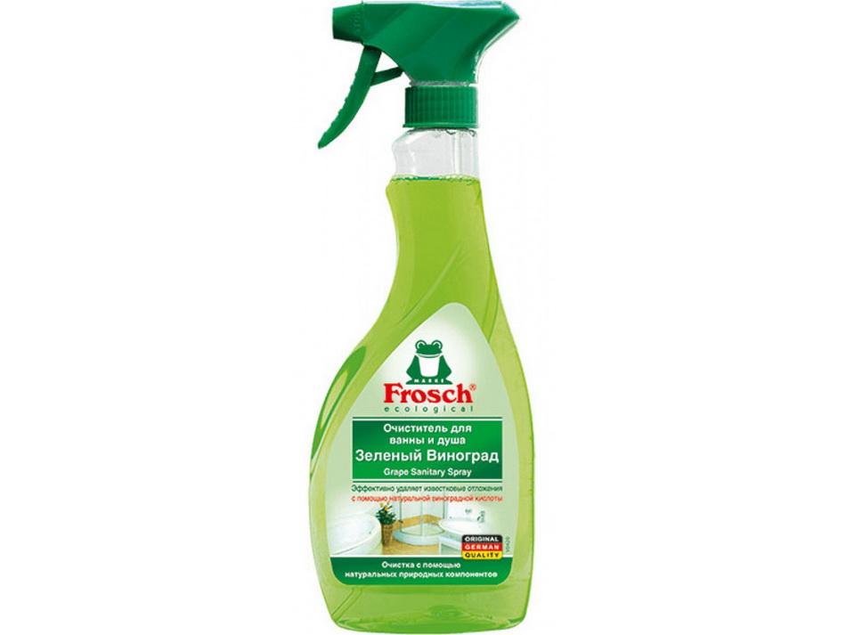 Средство для мытья в ванной комнате Frosch-Очиститель Зеленый виноград.