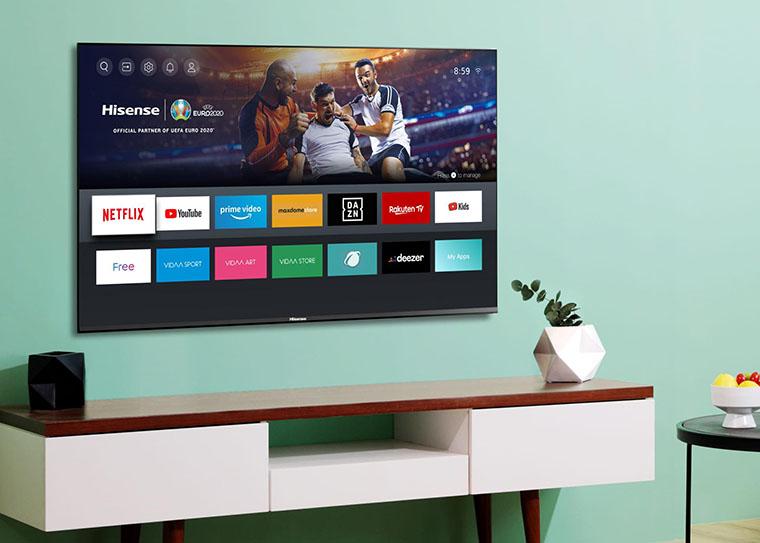 Телевізор на стіні