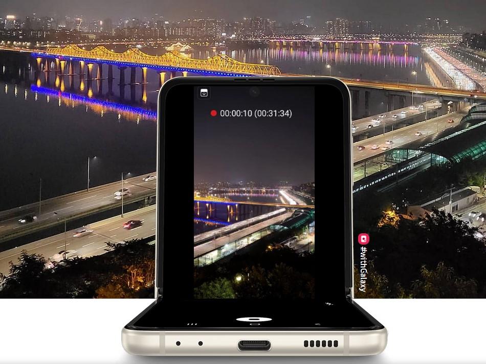 Samsung Galaxy Z Flip 3-режим Flex