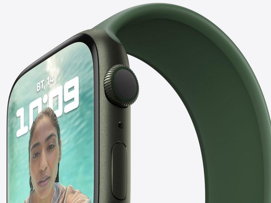 Apple Watch Series 7 Green Aluminium Case-дисплей и эргономика