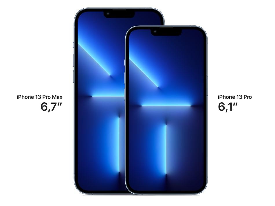 iPhone 13 Pro-iPhone 13 Pro Max экраны размер.