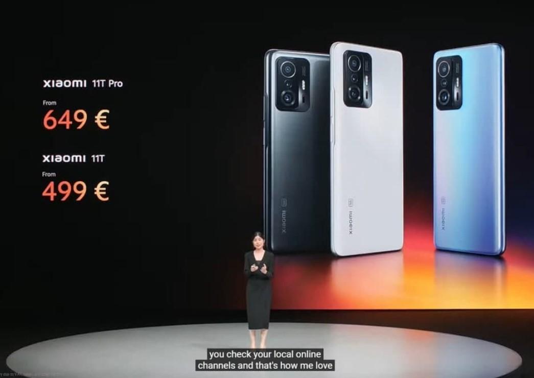 Xiaomi 11T и 11T Pro-цены